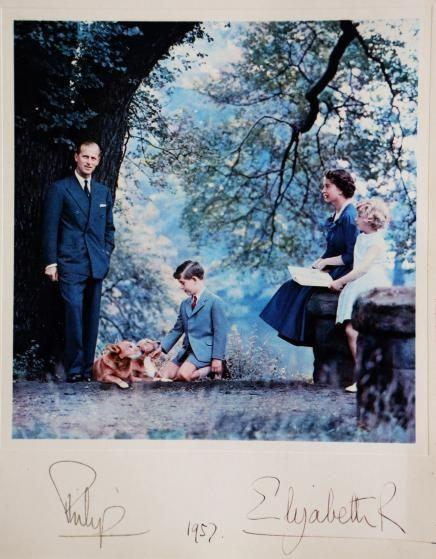 <p>As serene as a watercolor, this portrait of the Queen and her two children is more candid than the previous cards, perhaps sparking a new tradition we see in more recent photos.</p>