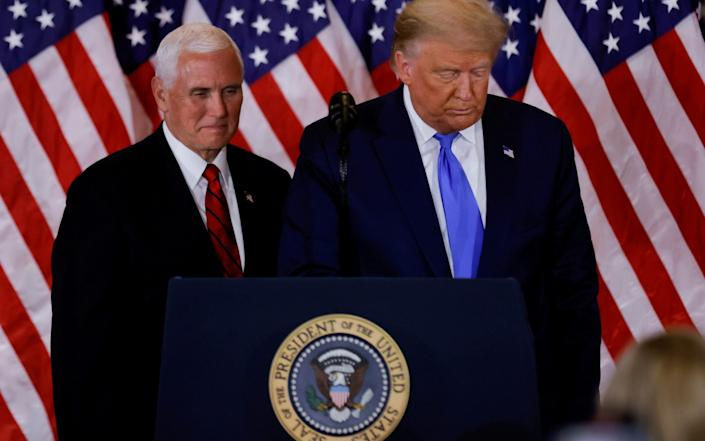 Mike Pence has ruled out leading the Cabinet in a move against Donald Trump - REUTERS