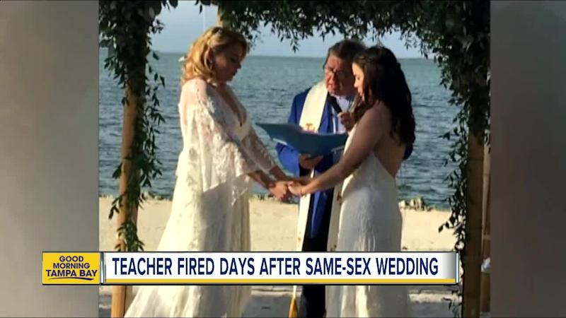 Lesbian teacher fired from Miami Catholic school after marrying 'love of my life'