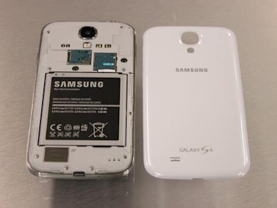 samsung galaxy s4 cover off with battery