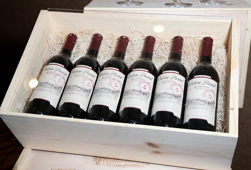LAS VEGAS, NEVADA - JULY 31: A case of Chateau Picard wine is on display in the Jean-Luc Picard: The First Duty Exhibit during the 18th annual Official Star Trek Convention at the Rio Hotel & Casino on July 31, 2019 in Las Vegas, Nevada. (Photo by Gabe Ginsberg/Getty Images)