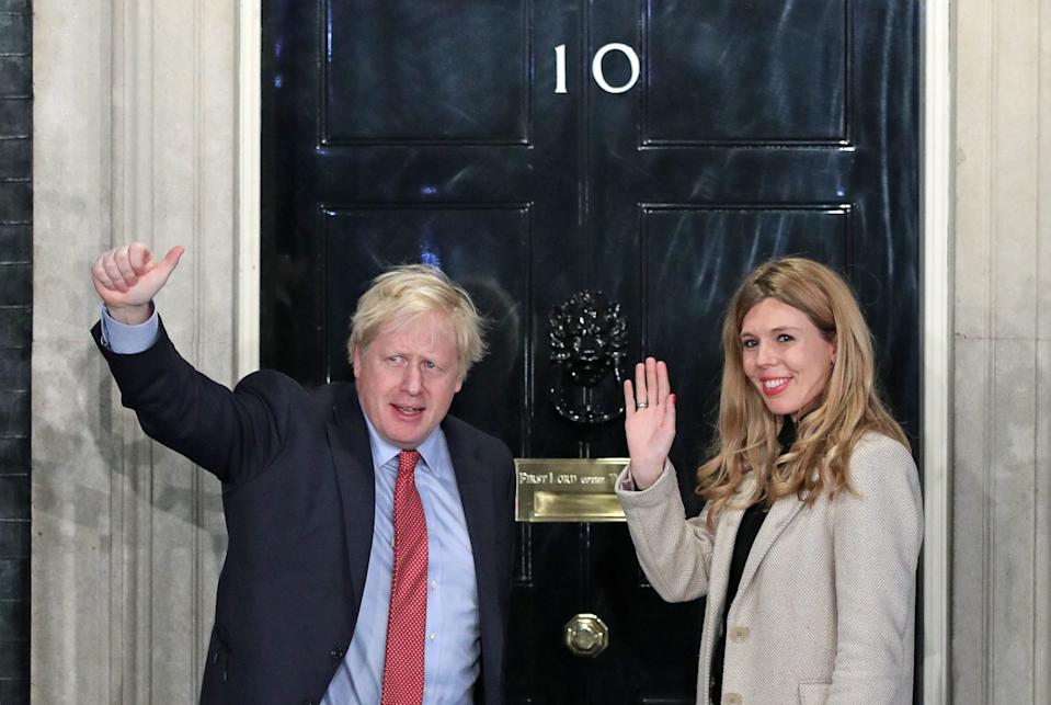 File photo dated 13/12/19 showing Prime Minister Boris Johnson and his girlfriend Carrie Symonds arrive in Downing Street after the Conservative Party was returned to power in the General Election with an increased majority.