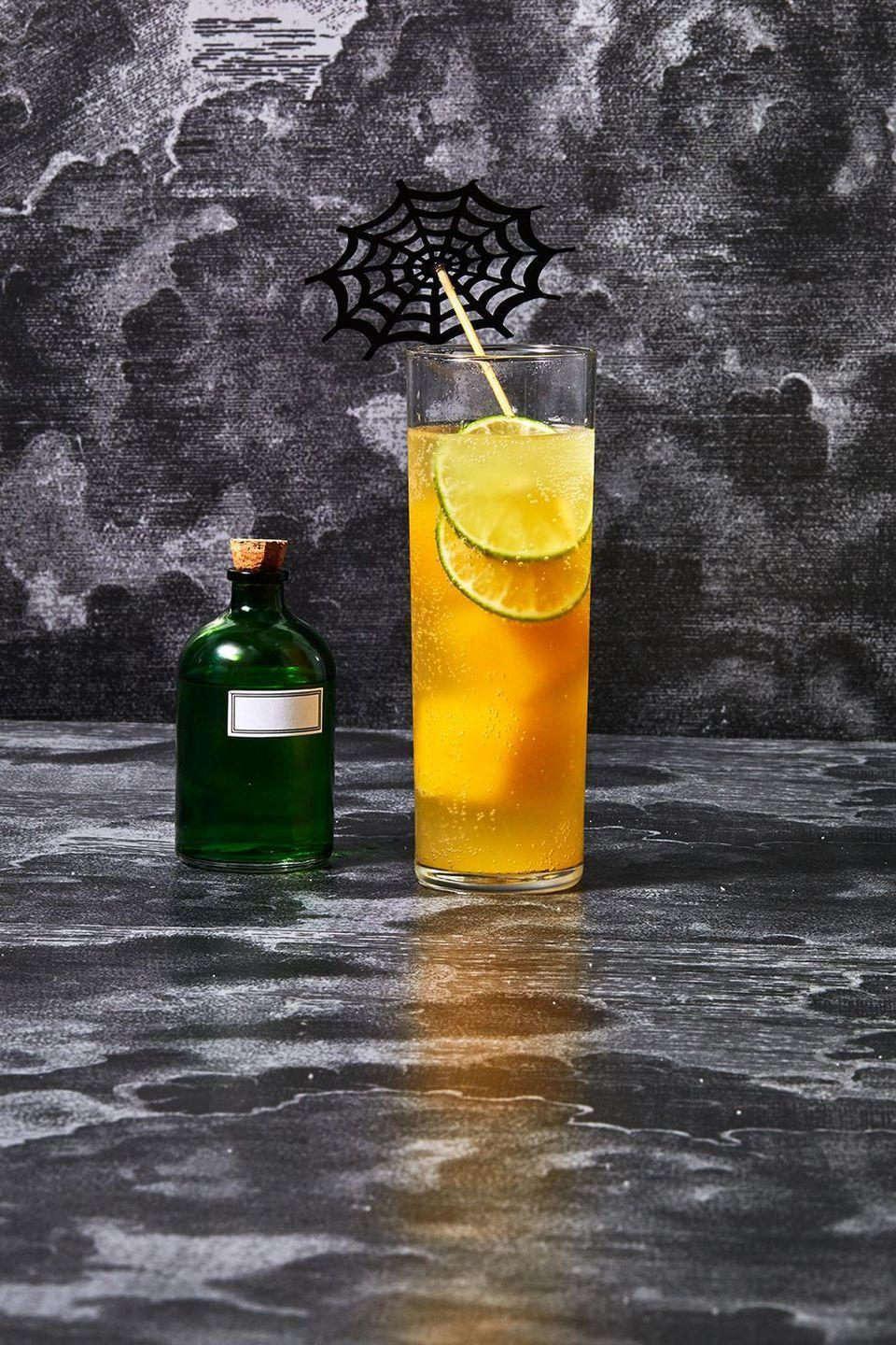 """<p>Get cozy with your new favorite fall cocktail recipe. Take a sip of citrus. Easy on the eye of newt.</p><p><em><a href=""""https://www.goodhousekeeping.com/food-recipes/a34331044/witches-brew-cocktail-recipe/"""" rel=""""nofollow noopener"""" target=""""_blank"""" data-ylk=""""slk:Get the recipe for Witches' Brew Cocktail »"""" class=""""link rapid-noclick-resp"""">Get the recipe for Witches' Brew Cocktail »</a></em></p><p><strong>RELATED:</strong> <a href=""""https://www.goodhousekeeping.com/food-recipes/g28669841/best-classic-cocktails/"""" rel=""""nofollow noopener"""" target=""""_blank"""" data-ylk=""""slk:16 Totally Delicious Classic Cocktails to Make at Home"""" class=""""link rapid-noclick-resp"""">16 Totally Delicious Classic Cocktails to Make at Home</a><br></p>"""