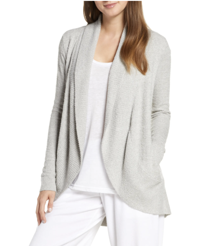 Barefoot Dreams CozyChic Lite Circle Cardigan in Pearl (Photo via Nordstrom)