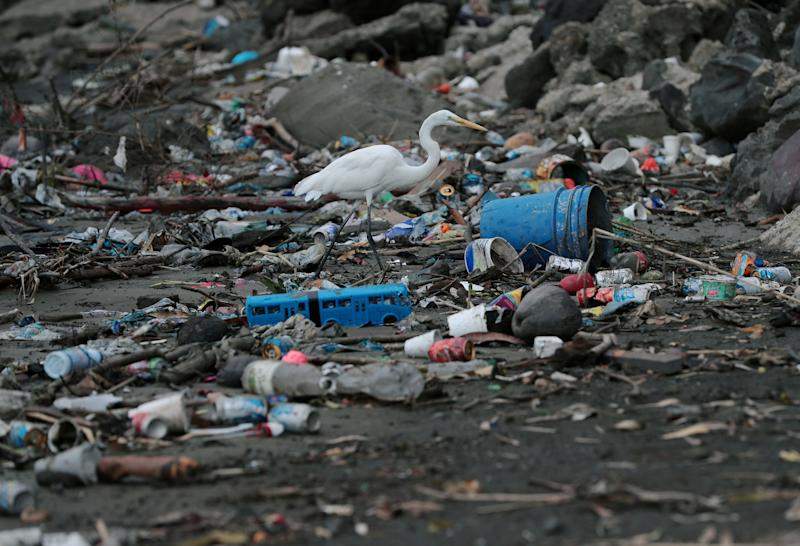 Plastic waste pile and debris are seen up near the beach in Panama City, as Panama becomes the first country in Central America to ban all single-use plastic bags, in Panama. (Photo: Erick Marciscano/Reuters)