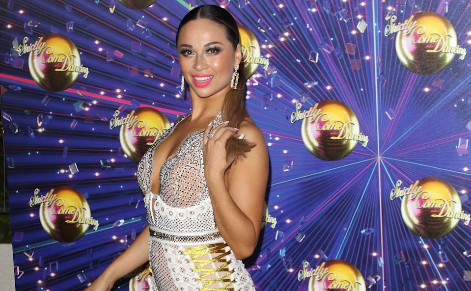 Katya Jones wearing her wedding ring at the Strictly 2019 launch following her split from husband Neil Jones (Credit: Getty)