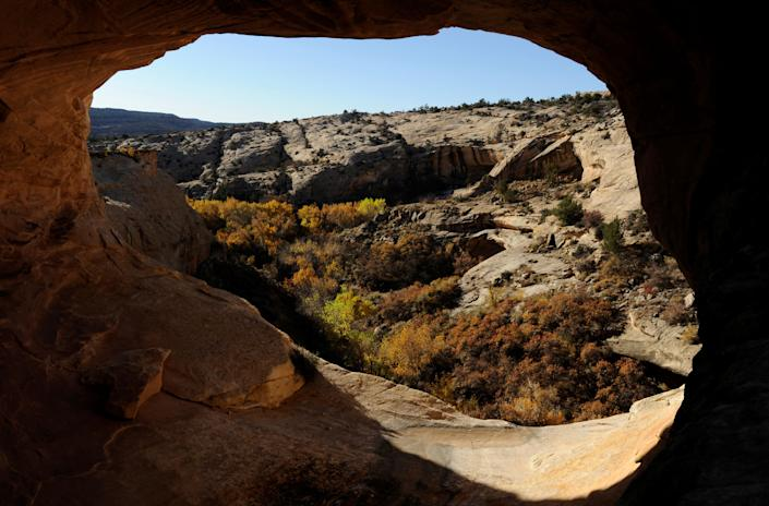Ruins of ancestral Pueblo cliff dwellings at Butler Wash in Utah's Bears Ears National Monument. President Donald Trump has cut the size of the protected monument by 85% and plans to open it up to mining interests. (Photo: Andrew Cullen/Reuters)
