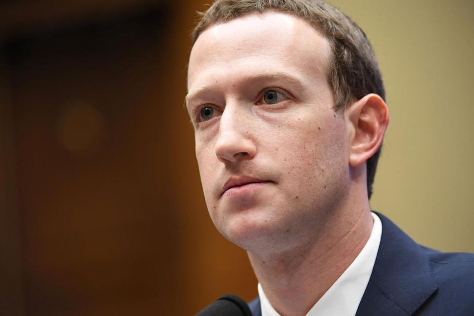 Facebook CEO Mark Zuckerberg at Wednesday's hearing with the House Energy and Commerce Committee at the Rayburn House Office Building in Washington, DC.