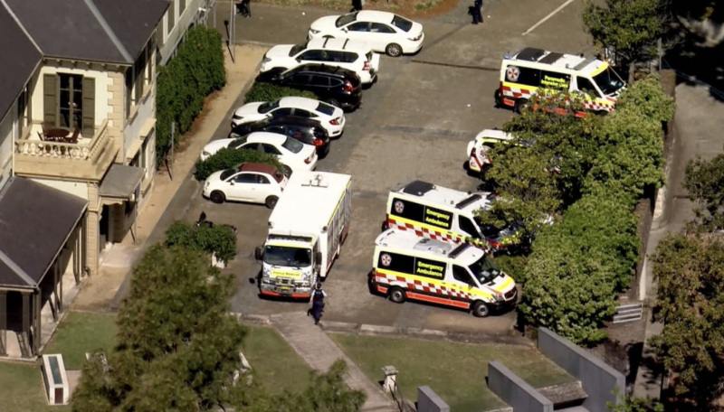 Paramedics at the scene in Double Bay. Source: Nine News