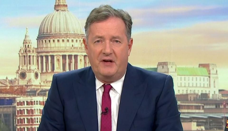 Piers Morgan on Good Morning Britain (Photo: ITV/Shutterstock)