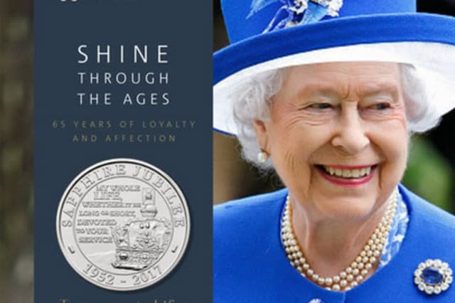 £5 coin for Sapphire Jubilee