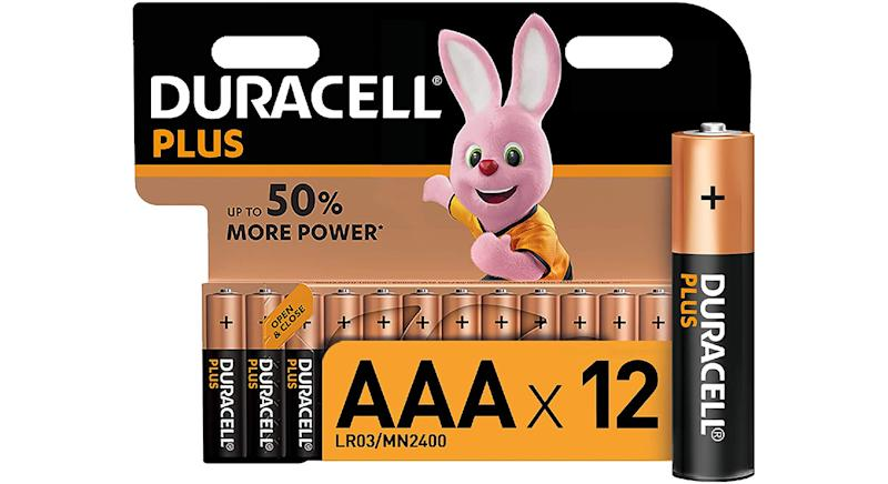 Duracell Plus AAA Alkaline Batteries [Pack of 12]
