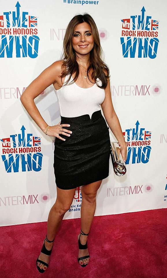 "Former ""Sopranos"" star Jamie-Lynn Sigler kept it simple in a shimmery black skirt and white tank top. Jean Baptiste Lacroix/<a href=""http://www.wireimage.com"" target=""new"">WireImage.com</a> - July 11, 2008"