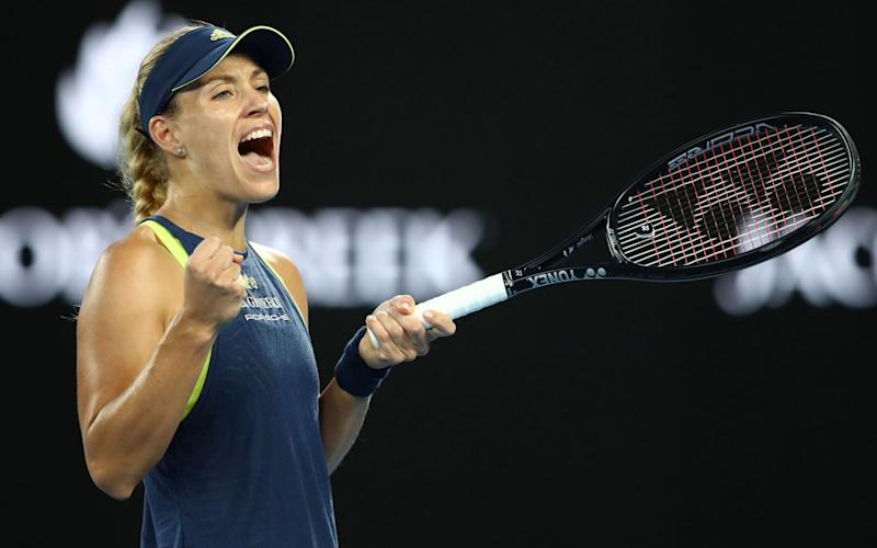 Angelique Kerber celebrates a hugely impressive win overMaria Sharapova - Getty Images AsiaPac