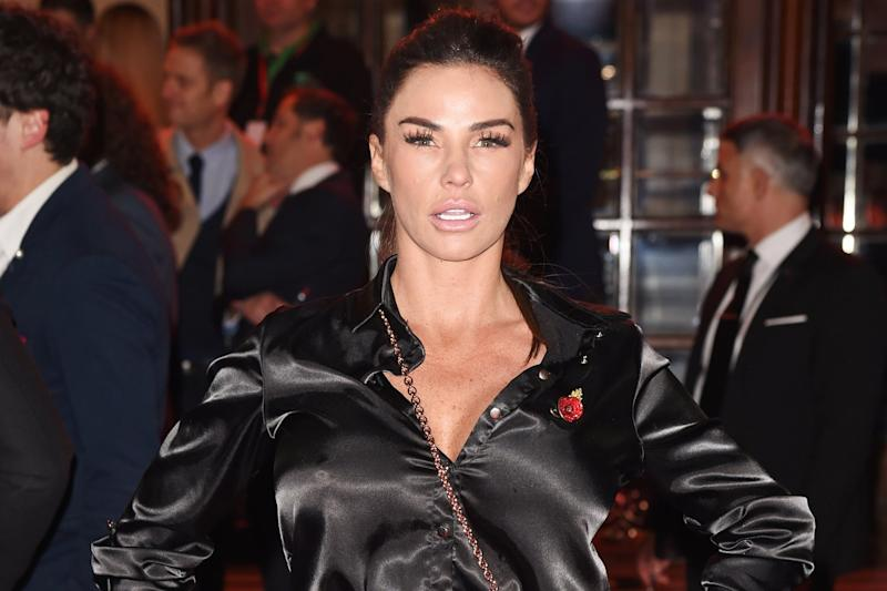 Mocked: Katie Price at the ITV Gala: Dave Benett