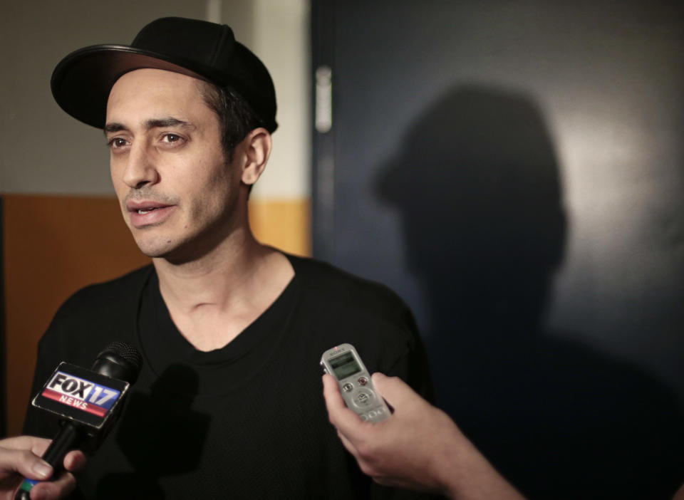 Nashville Predators center Mike Ribeiro talks with reporters Monday, April 27, 2015, in Nashville, Tenn. Although the Predators rebounded after missing the playoffs the past two years, they lost the opening round of the playoffs 4-2 to the Chicago Blackhawks. (AP Photo/Mark Humphrey)