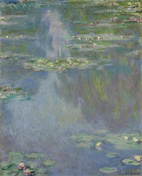 "FILE - This undated file photo provided by Christie's auction house shows French impressionist painter Claude Monet's ""Water Lilies"" from the Huguette Clark collection. Works from the estates of Montana copper mining heiress Huguette Clark, Edgar Bronfman and other major collectors are among the highlights leading the spring art auctions in New York City. ""Water Lilies,"" which hasn't been publicly exhibited since 1926 and is estimated to sell for $25 million to $35 million, will be offered at auction at Christie's, Tuesday, May 6, 2014, in New York. (AP Photo/Christie's, File)"