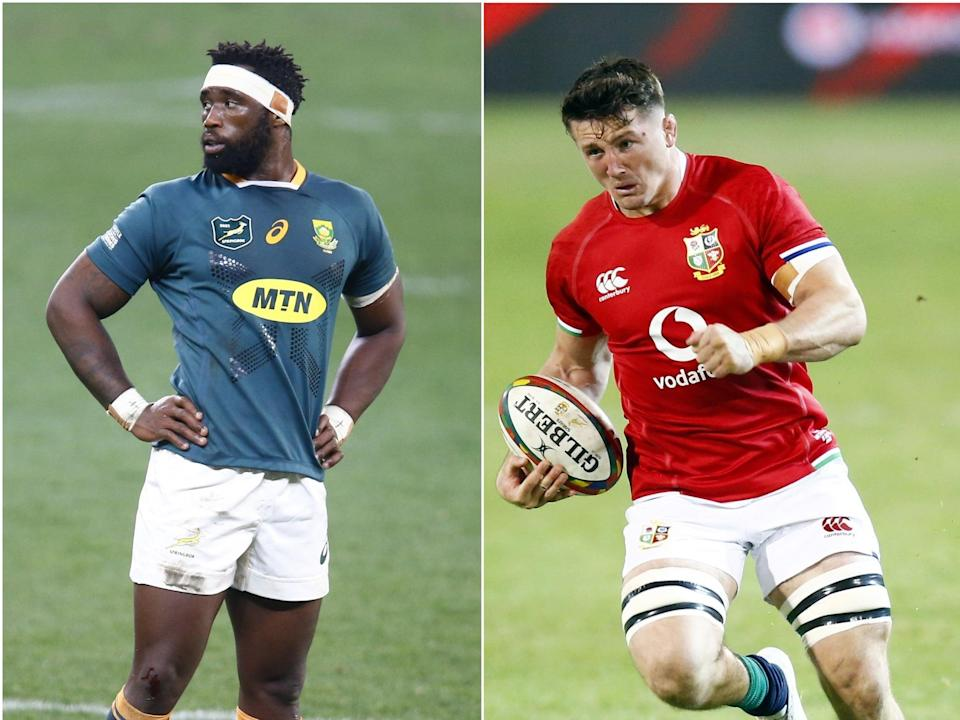 Siya Kolisi and Tom Curry will go head to head in Saturday's final Test (PA) (pa)