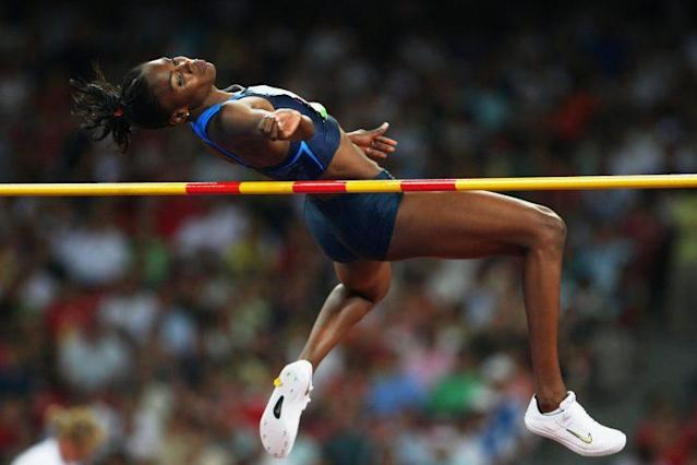 Chaunte Lowe cleared 1.99 meters in Beijing, which wasn't good enough for a medal … until eight years later. (Getty Images)