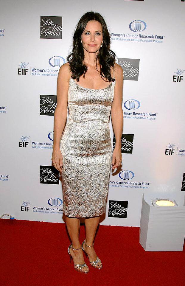 "Courteney Cox Arquette steals the spotlight in L'Wren Scott. John Shearer/<a href=""http://www.wireimage.com"" target=""new"">WireImage.com</a> - February 10, 2009"