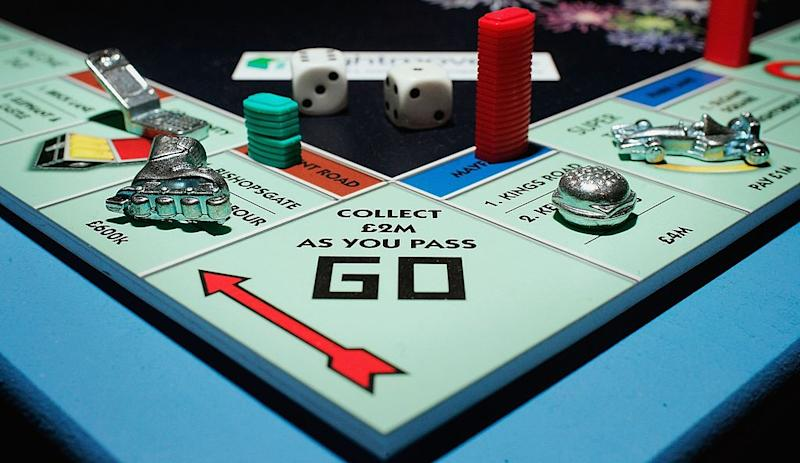 Pictured: Close-up of Monopoly board game. Image: Getty