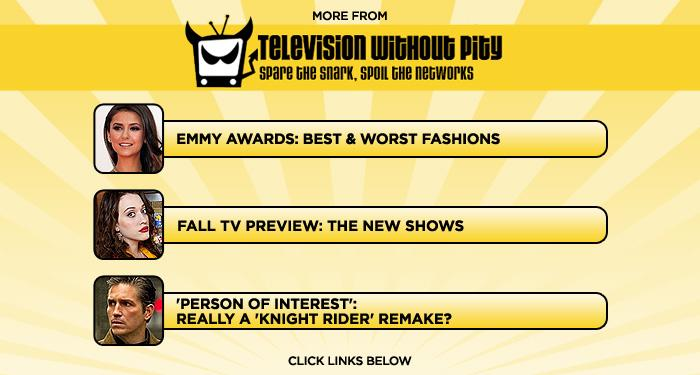 """More at <a href=""""http://www.televisionwithoutpity.com/"""">Television Without Pity</a>:<ul> <li><a href=""""http://www.televisionwithoutpity.com/show/award_shows/emmy_awards_2011_best_worst_dr.php?__source=tw