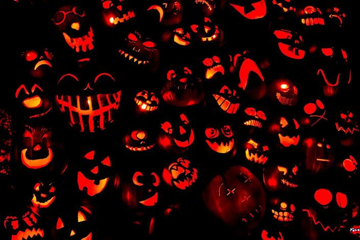 """<p>The reigning champion in jack-0-lantern displays is the City of Keene, which <a href=""""https://www.guinnessworldrecords.com/world-records/most-lit-jack-o-lanterns-displayed"""" rel=""""nofollow noopener"""" target=""""_blank"""" data-ylk=""""slk:broke the Guinness World Record in 2013 by lighting 30,581 pumpkins"""" class=""""link rapid-noclick-resp"""">broke the Guinness World Record in 2013 by lighting 30,581 pumpkins</a>. The city was the first to hold a record in this category and, committed to their winning status, has since broken their own record eight times.</p>"""
