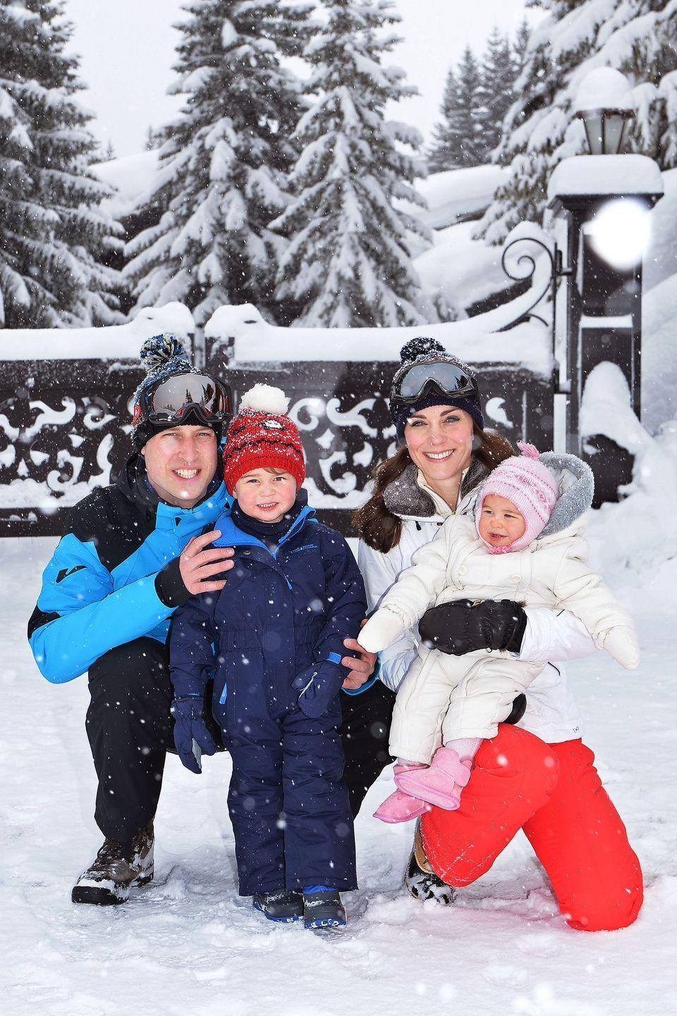 <p>The Cambridges bundle up on a private ski vacation in the French Alps. </p>
