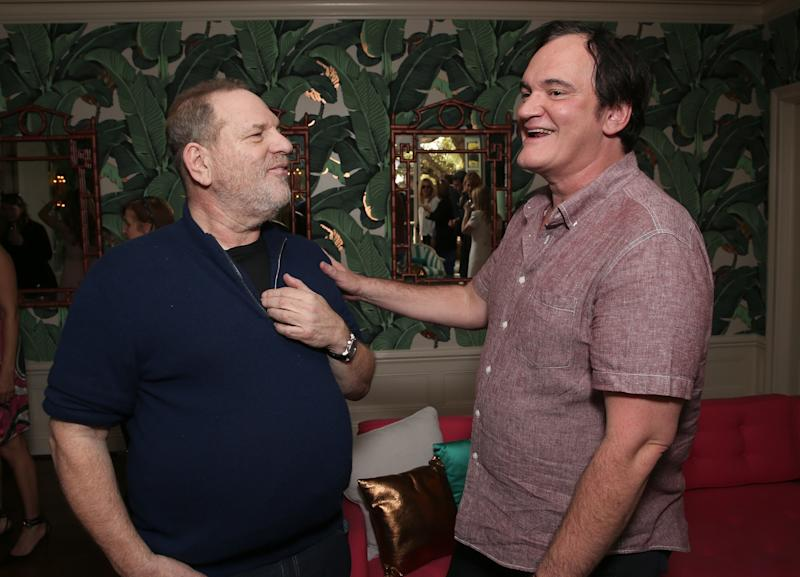 Harvey Weinstein and Quentin Tarantino in 2016. (Todd Williamson via Getty Images)