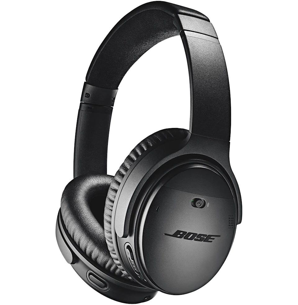 """<p><strong>Bose</strong></p><p>amazon.com</p><p><strong>$249.00</strong></p><p><a href=""""https://www.amazon.com/dp/B0756CYWWD?tag=syn-yahoo-20&ascsubtag=%5Bartid%7C10054.g.37144227%5Bsrc%7Cyahoo-us"""" rel=""""nofollow noopener"""" target=""""_blank"""" data-ylk=""""slk:Buy"""" class=""""link rapid-noclick-resp"""">Buy</a></p><p>But go for Bose's high-end QuietComfort headphones when you want three levels of noise cancellation and other luxe features.</p>"""