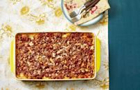 """<p>What better way to feed hungry football fans than with a big batch of lasagna? Ree calls this recipe """"dadgum good,"""" and it's a breeze to make.</p><p><strong><a href=""""https://www.thepioneerwoman.com/food-cooking/recipes/a11728/best-lasagna-recipe/"""" rel=""""nofollow noopener"""" target=""""_blank"""" data-ylk=""""slk:Get the recipe."""" class=""""link rapid-noclick-resp"""">Get the recipe.</a></strong></p><p><strong><a class=""""link rapid-noclick-resp"""" href=""""https://go.redirectingat.com?id=74968X1596630&url=https%3A%2F%2Fwww.walmart.com%2Fbrowse%2Fhome%2Fbakeware%2Fthe-pioneer-woman%2F4044_623679_8455465%2FYnJhbmQ6VGhlIFBpb25lZXIgV29tYW4ie&sref=https%3A%2F%2Fwww.thepioneerwoman.com%2Ffood-cooking%2Fmeals-menus%2Fg35049189%2Fsuper-bowl-food-recipes%2F"""" rel=""""nofollow noopener"""" target=""""_blank"""" data-ylk=""""slk:SHOP BAKING DISHES"""">SHOP BAKING DISHES</a><br></strong></p>"""