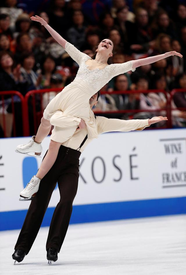 Figure Skating - World Figure Skating Championships - The Mediolanum Forum, Milan, Italy - March 24, 2018 Italy's Anna Cappellini and Luca Lanotte during the Ice Dance Free Dance REUTERS/Alessandro Garofalo