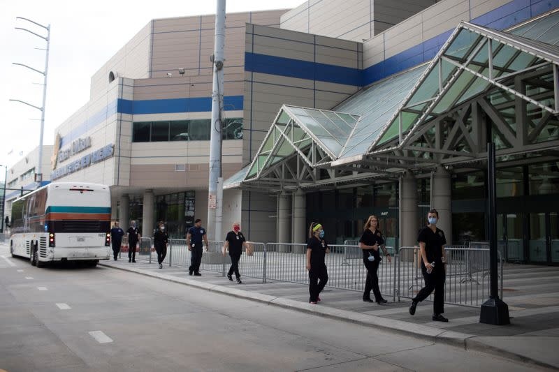 Inside the New Orleans convention center preparing for COVID patients