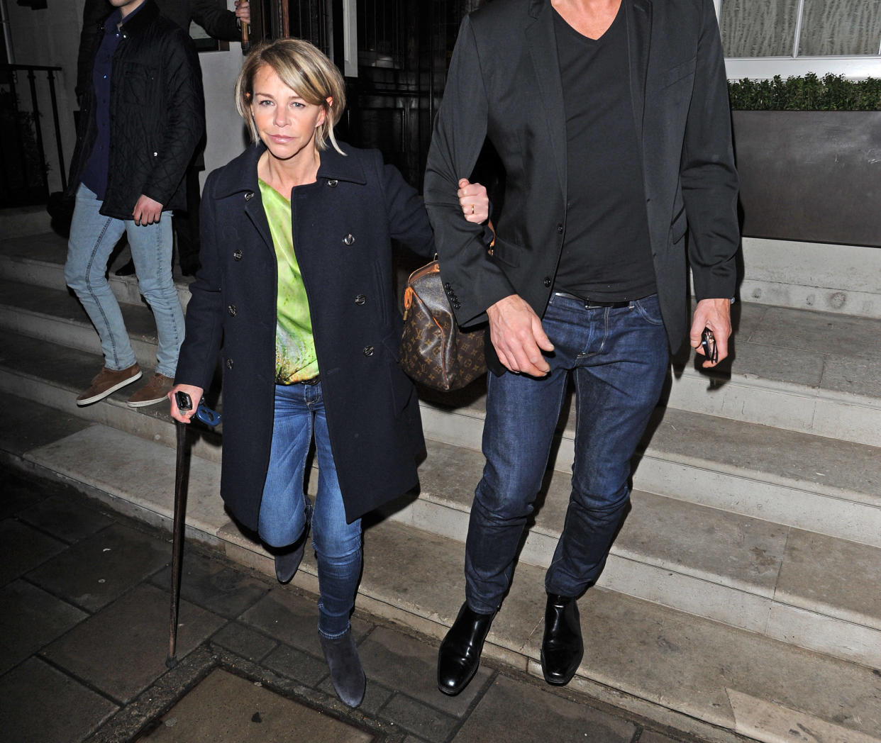 Leslie Ash had to walk with a stick in the wake of acquiring a serious infection during her hospital treatment. (Alan Chapman/FilmMagic)