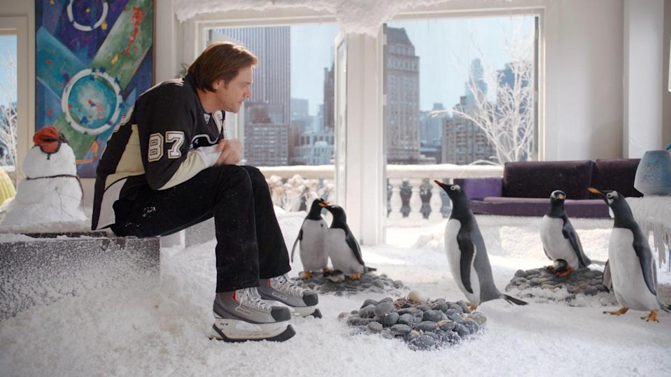 """<p><strong>HBO Max's Description:</strong> """"A successful businessman gets a lesson in fatherhood from some rambunctious penguins in this comedy. <a class=""""link rapid-noclick-resp"""" href=""""https://www.popsugar.com/Jim-Carrey"""" rel=""""nofollow noopener"""" target=""""_blank"""" data-ylk=""""slk:Jim Carrey"""">Jim Carrey</a> is the high-powered real-estate developer who seemingly has it all. What he doesn't have is time for his family. But that all changes after he inherits six penguins from his explorer father, and turns his posh Manhattan apartment into an arctic playground.""""</p> <p><a href=""""https://play.hbomax.com/feature/urn:hbo:feature:GXai-ZwOH11OfqwEAAAhh"""" class=""""link rapid-noclick-resp"""" rel=""""nofollow noopener"""" target=""""_blank"""" data-ylk=""""slk:Watch Mr. Popper's Penguins on HBO Max here!"""">Watch <strong>Mr. Popper's Penguins</strong> on HBO Max here!</a></p>"""