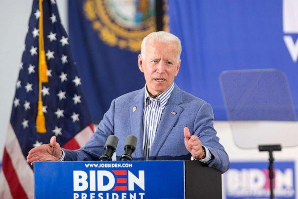 PHOTO: Democratic presidential candidate Joe Biden holds a campaign event at the IBEW Local 490, June 4, 2019, in Concord, N.H. (Scott Eisen/Getty Images)