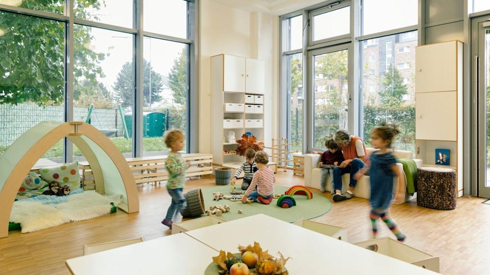Children play in childcare centre.