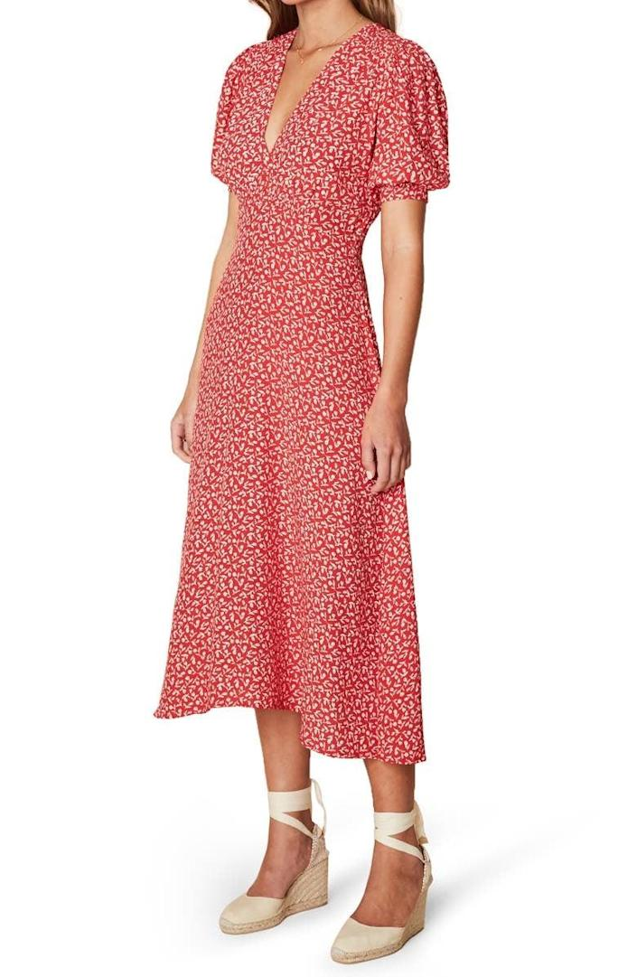 <p>This <span>Faithfull the Brand Sonja Floral Midi Dress</span> ($199) is so flattering and flirty.</p>