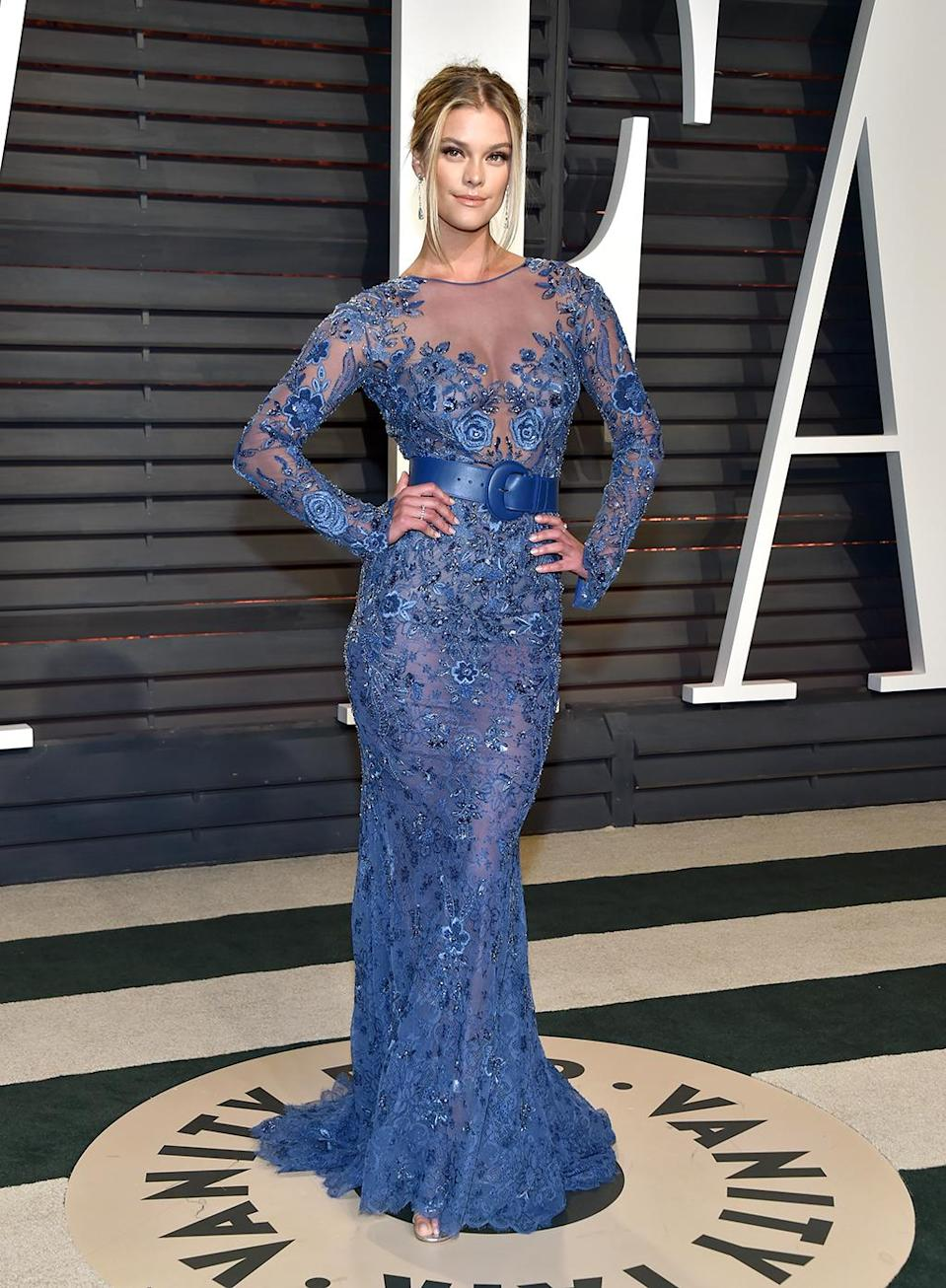 <p>Nina Agdal attends the 2017 Vanity Fair Oscar Party hosted by Graydon Carter at Wallis Annenberg Center for the Performing Arts on February 26, 2017 in Beverly Hills, California. (Photo by Pascal Le Segretain/Getty Images) </p>