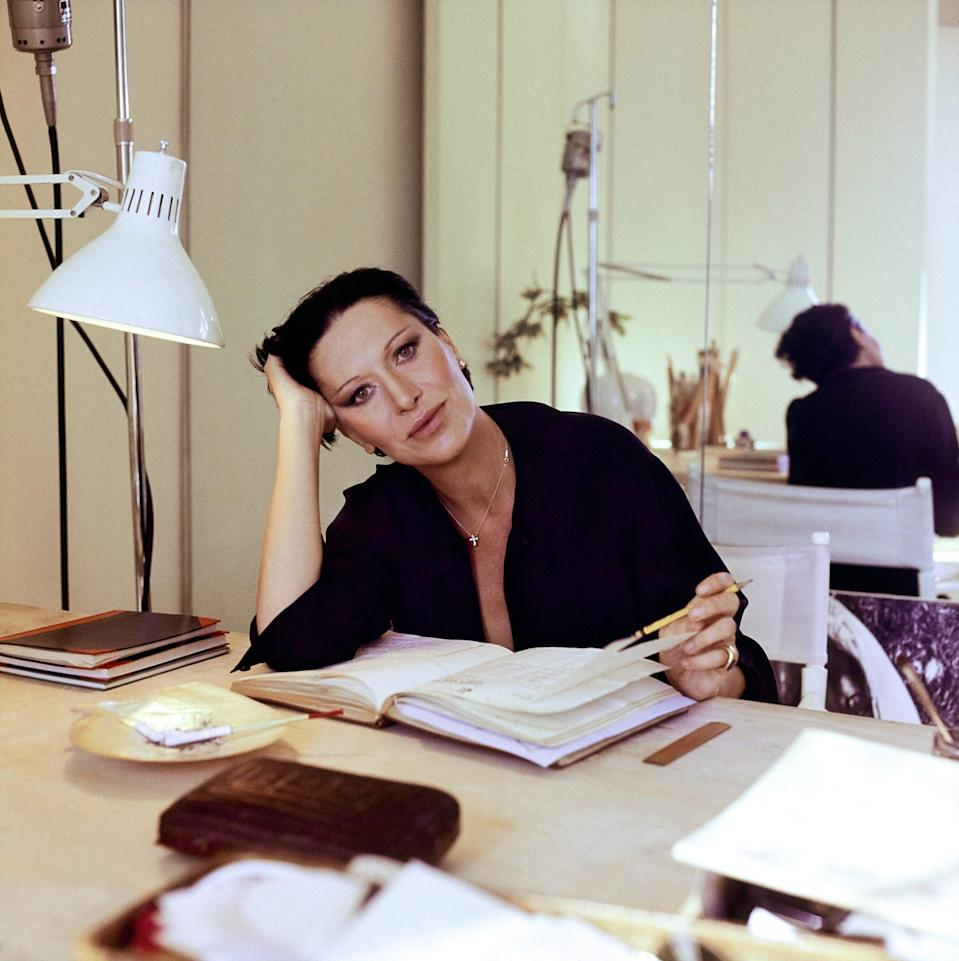 "<h1 class=""title"">Elsa Peretti at her Worktable, Vogue</h1> <div class=""caption""> Elsa Peretti. </div> <cite class=""credit"">Photographed by Horst P. Horst, <em>Vogue,</em> April 1976</cite>"