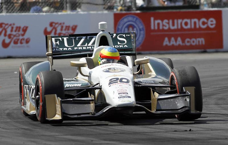 Mike Conway wins wild IndyCar race at Long Beach