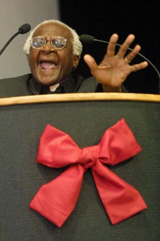 What endeared Tutu to the nation was that he didn't stop speaking out after democracy arrived (AFP/Anna ZIEMINSKI)