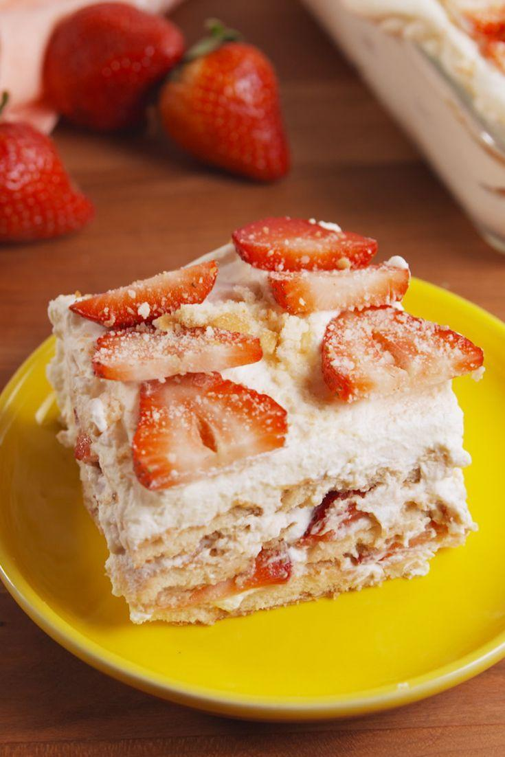 "<p>Easy to make, hard to resist.</p><p>Get the recipe from <a href=""/cooking/recipe-ideas/recipes/a52265/strawberry-shortcake-lasagna-recipe/"" data-ylk=""slk:Delish"" class=""link rapid-noclick-resp"">Delish</a>.</p>"