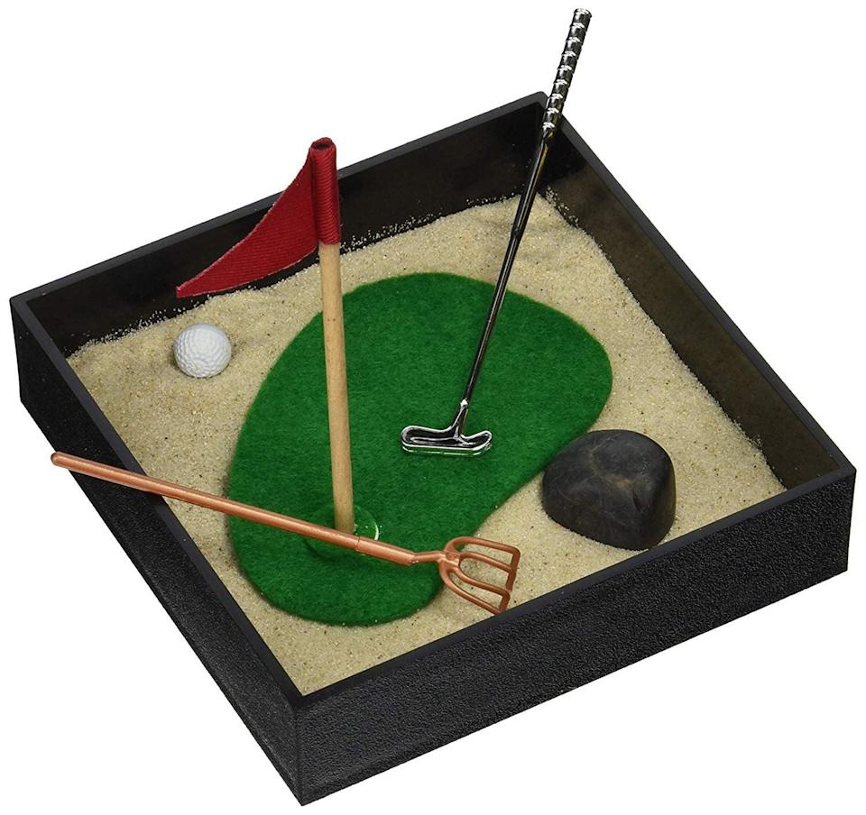 <p>This golf-themed <span>Executive Mini Sandbox</span> ($17) is perfect for someone who's paradise is a golf course. </p>