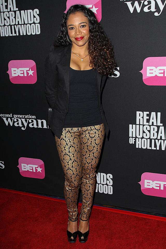 "Keta Meggett arrives at the screenings of BET Networks' ""Real Husbands of Hollywood"" and ""Second Generation Wayans"" held at the Regal Cinemas L.A. Live on January 8, 2013 in Los Angeles, California."