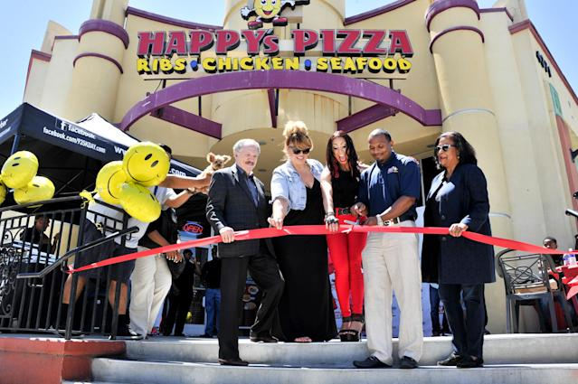 Happy's Pizza denies that racism was the reason the Barneys were turned away from one of their locations. (Getty)