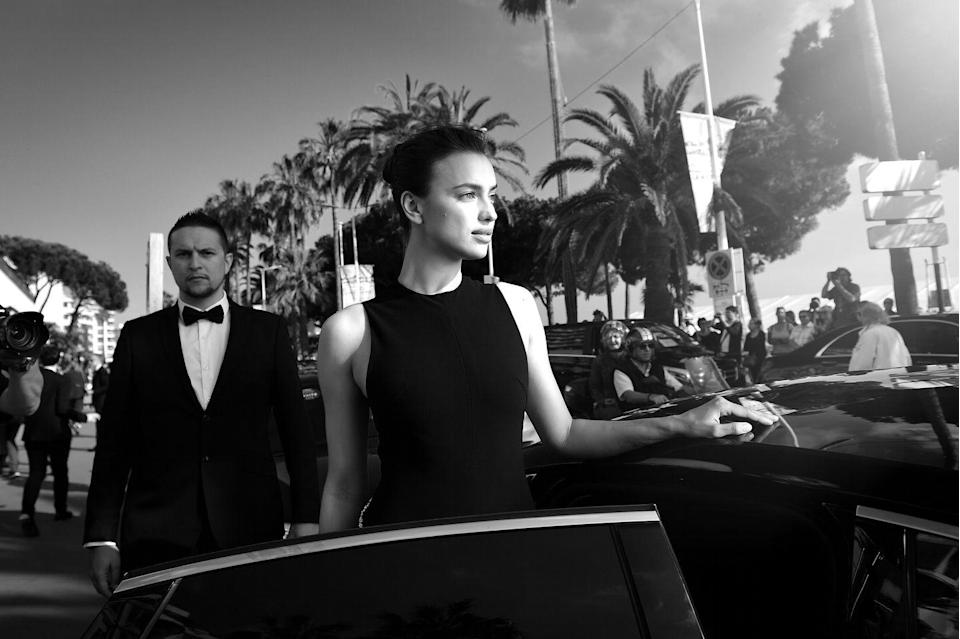 <p>Irina Shayk departs the Martinez Hotel during the 69th annual Cannes Film Festival on May 17, 2016 in Cannes, France. </p>