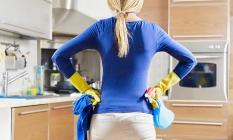 So much for equality in the home: A new study claims marriages are better off when women do most of the housework.