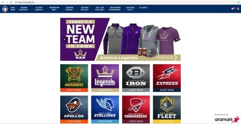 Aramark, The Alliance of American Football Announce Official Retail and E-Commerce Partnership