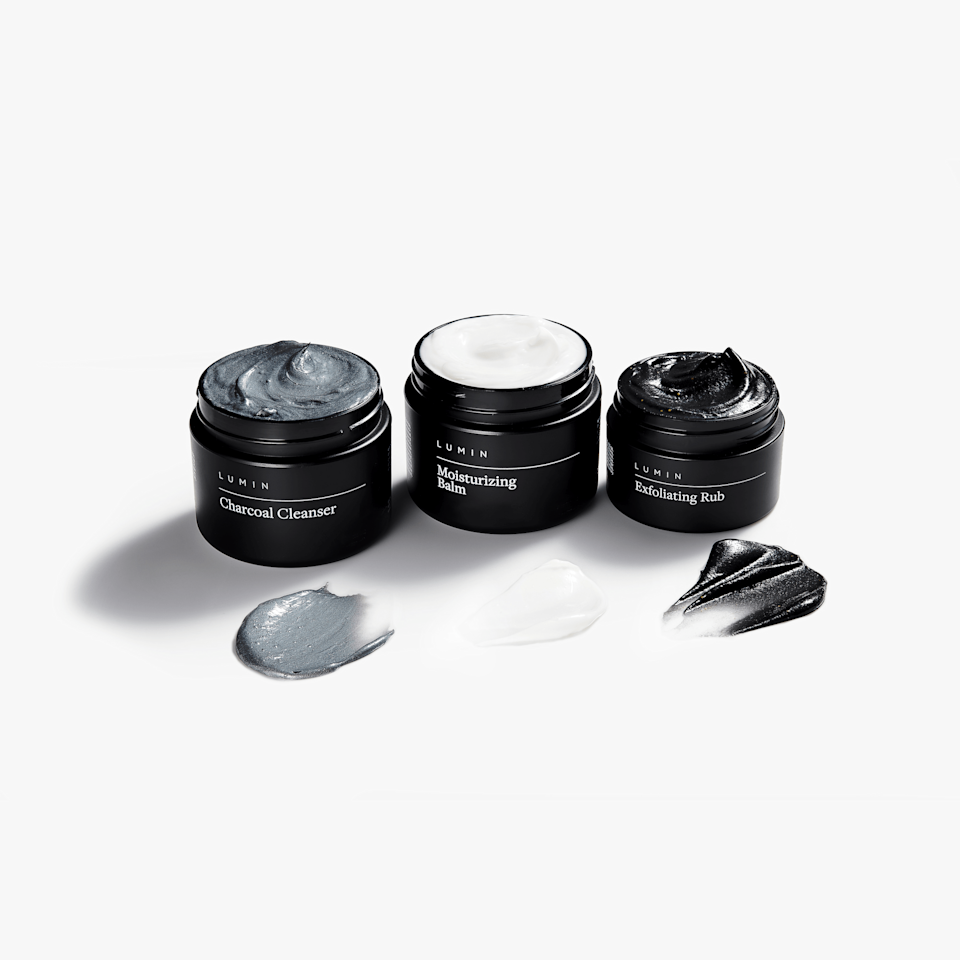 "For the skin-care-curious man in your life, start him out with this essential set from men's beauty brand Lumin. It's hydration, cleansing, and renewal all wrapped up in three straightforward products. $48, Lumin. <a href=""https://www.luminskin.com/products/classic-maintenance-set"" rel=""nofollow noopener"" target=""_blank"" data-ylk=""slk:Get it now!"" class=""link rapid-noclick-resp"">Get it now!</a>"